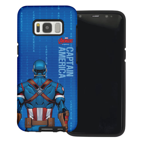 Galaxy S6 Case (5.1inch) Marvel Avengers Layered Hybrid [TPU + PC] Bumper Cover - Back Captain