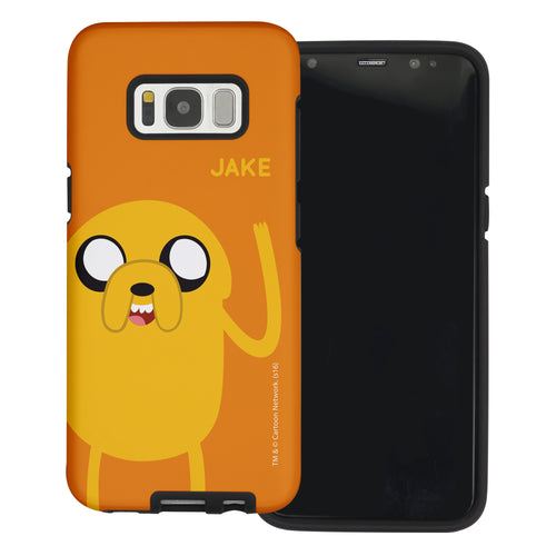 Galaxy Note4 Case Adventure Time Layered Hybrid [TPU + PC] Bumper Cover - Cuty Jake