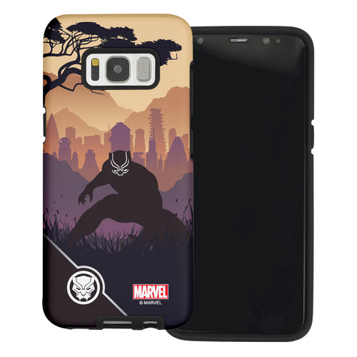 Galaxy S6 Edge Case Marvel Avengers Layered Hybrid [TPU + PC] Bumper Cover - Shadow Panther