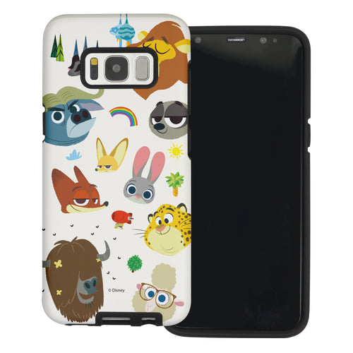 Galaxy S7 Edge Case Disney Zootopia Layered Hybrid [TPU + PC] Bumper Cover - Zootopia Small