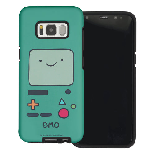 Galaxy S6 Edge Case Adventure Time Layered Hybrid [TPU + PC] Bumper Cover - Beemo (BMO)