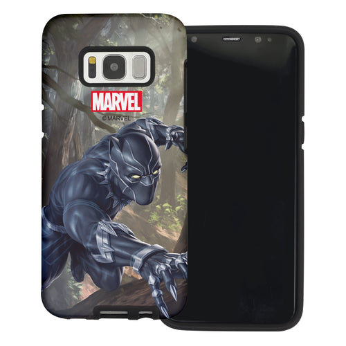 Galaxy S6 Edge Case Marvel Avengers Layered Hybrid [TPU + PC] Bumper Cover - Panther Jungle