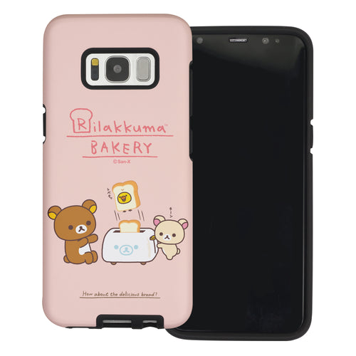 Galaxy Note4 Case Rilakkuma Layered Hybrid [TPU + PC] Bumper Cover - Rilakkuma Toast