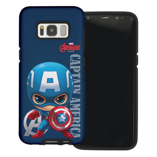Galaxy S6 Case (5.1inch) Marvel Avengers Layered Hybrid [TPU + PC] Bumper Cover - Mini Captain
