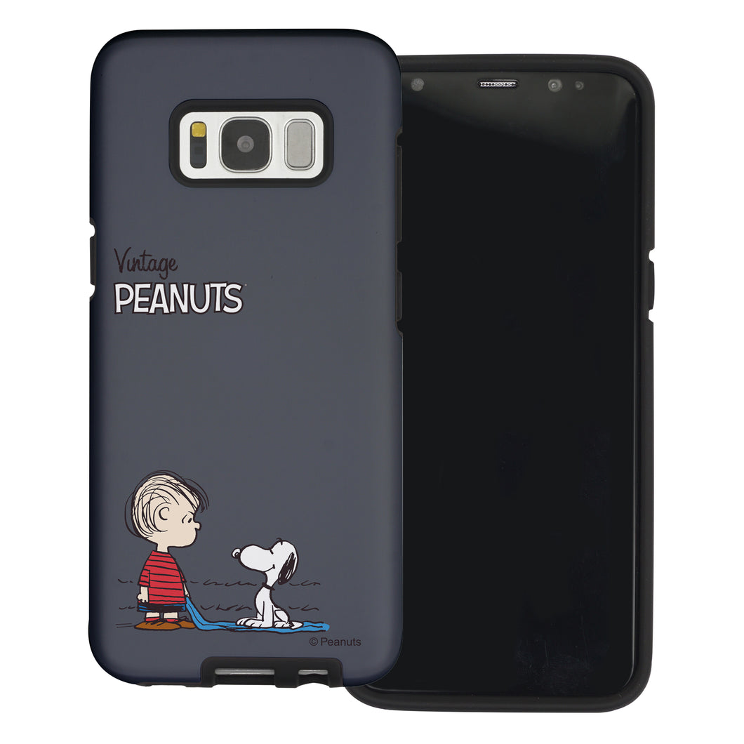 Galaxy S8 Plus Case PEANUTS Layered Hybrid [TPU + PC] Bumper Cover - Small Snoopy Linus