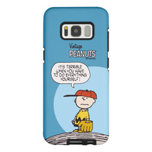 Load image into Gallery viewer, Galaxy S8 Case (5.8inch) PEANUTS Layered Hybrid [TPU + PC] Bumper Cover - Cartoon Charlie Brown