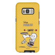 Load image into Gallery viewer, Galaxy S8 Case (5.8inch) PEANUTS Layered Hybrid [TPU + PC] Bumper Cover - Smack Snoopy Charlie Brown