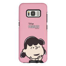 Load image into Gallery viewer, Galaxy S8 Case (5.8inch) PEANUTS Layered Hybrid [TPU + PC] Bumper Cover - Face Lucy