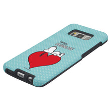 Load image into Gallery viewer, Galaxy S8 Case (5.8inch) PEANUTS Layered Hybrid [TPU + PC] Bumper Cover - Smack Snoopy Heart