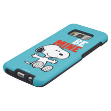 Load image into Gallery viewer, Galaxy S8 Case (5.8inch) PEANUTS Layered Hybrid [TPU + PC] Bumper Cover - Snoopy Be Mine Cyan
