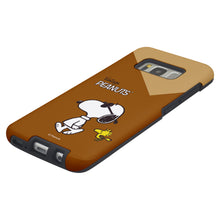 Load image into Gallery viewer, Galaxy S8 Plus Case PEANUTS Layered Hybrid [TPU + PC] Bumper Cover - Vivid Snoopy Woodstock