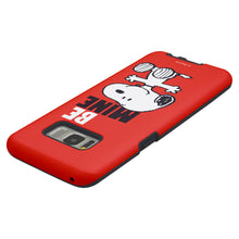 Load image into Gallery viewer, Galaxy S8 Case (5.8inch) PEANUTS Layered Hybrid [TPU + PC] Bumper Cover - Snoopy Be Mine Red