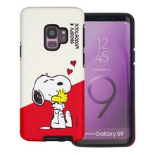 Load image into Gallery viewer, Galaxy S9 Plus Case PEANUTS Layered Hybrid [TPU + PC] Bumper Cover - Diagonal Snoopy