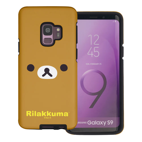 Galaxy S9 Case (5.8inch) Rilakkuma Layered Hybrid [TPU + PC] Bumper Cover - Face Rilakkuma