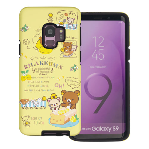 Galaxy S9 Plus Case Rilakkuma Layered Hybrid [TPU + PC] Bumper Cover - Rilakkuma Cooking