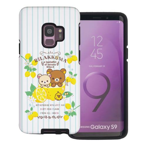 Galaxy S9 Plus Case Rilakkuma Layered Hybrid [TPU + PC] Bumper Cover - Rilakkuma Lemon