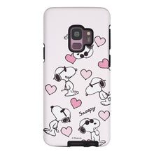 Load image into Gallery viewer, Galaxy S9 Plus Case PEANUTS Layered Hybrid [TPU + PC] Bumper Cover - Snoopy Heart Pattern