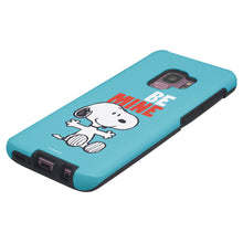 Load image into Gallery viewer, Galaxy S9 Plus Case PEANUTS Layered Hybrid [TPU + PC] Bumper Cover - Snoopy Be Mine Cyan