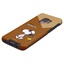 Load image into Gallery viewer, Galaxy S9 Plus Case PEANUTS Layered Hybrid [TPU + PC] Bumper Cover - Vivid Snoopy Woodstock