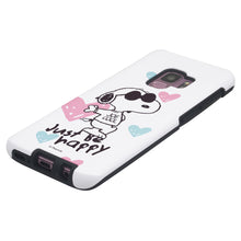 Load image into Gallery viewer, Galaxy S9 Case (5.8inch) PEANUTS Layered Hybrid [TPU + PC] Bumper Cover - Snoopy Love Pink