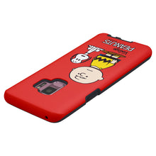 Load image into Gallery viewer, Galaxy S9 Plus Case PEANUTS Layered Hybrid [TPU + PC] Bumper Cover - Cute Snoopy Charlie Brown