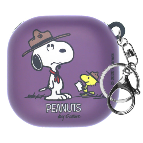 Peanuts Galaxy Buds Live Case (2020) Key Ring Keychain Key Holder Hard PC Shell Cover - Camp Snoopy Instructor