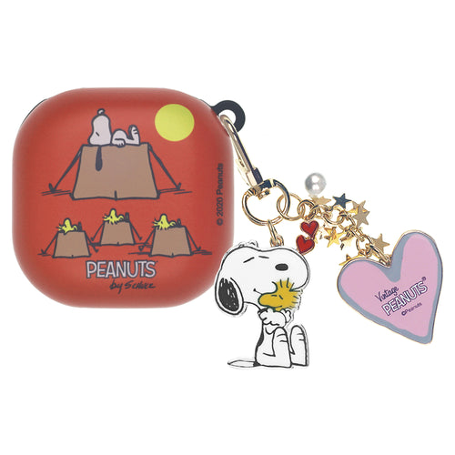 Peanuts Galaxy Buds Live Case (2020) Snoopy Key Ring Keychain Key Holder Hard PC Shell Cover - Camp Snoopy Tent