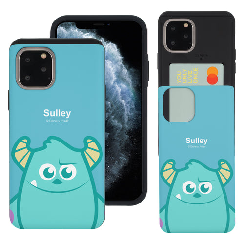 iPhone 11 Case (6.1inch) Monsters University inc Slim Slider Card Slot Dual Layer Holder Bumper Cover - Big Sulley