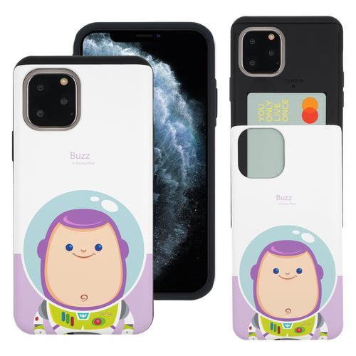 iPhone 11 Case (6.1inch) Toy Story Slim Slider Card Slot Dual Layer Holder Bumper Cover - Baby Buzz