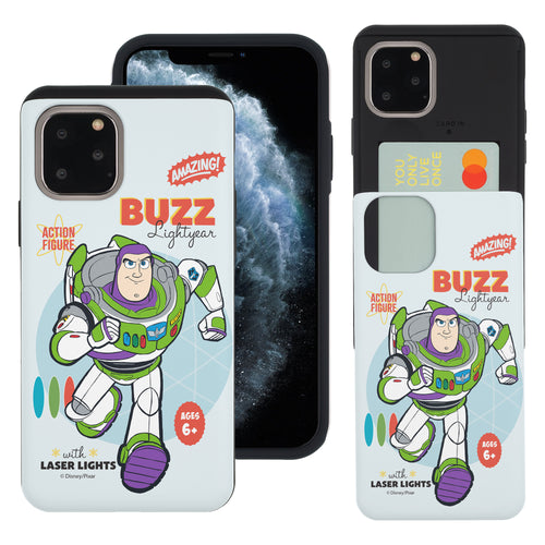 iPhone 11 Case (6.1inch) Toy Story Slim Slider Card Slot Dual Layer Holder Bumper Cover - Full Buzz