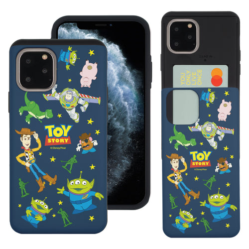 iPhone 11 Case (6.1inch) Toy Story Slim Slider Card Slot Dual Layer Holder Bumper Cover - Pattern Toy Story