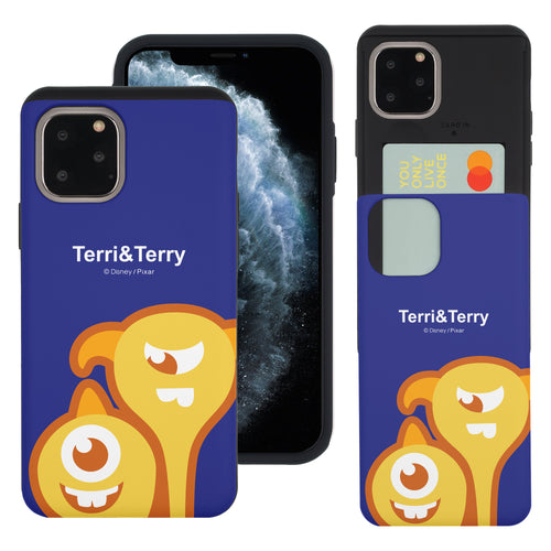 iPhone 11 Pro Max Case (6.5inch) Monsters University inc Slim Slider Card Slot Dual Layer Holder Bumper Cover - Big Terri and Terry