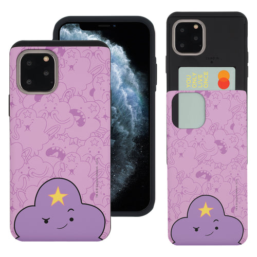 iPhone 11 Pro Max Case (6.5inch) Adventure Time Slim Slider Card Slot Dual Layer Holder Bumper Cover - Pattern Lumpy Big