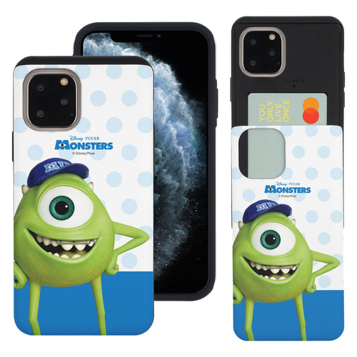 iPhone 11 Pro Max Case (6.5inch) Monsters University inc Slim Slider Card Slot Dual Layer Holder Bumper Cover - Movie Mike
