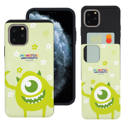iPhone 11 Pro Max Case (6.5inch) Monsters University inc Slim Slider Card Slot Dual Layer Holder Bumper Cover - Full Mike
