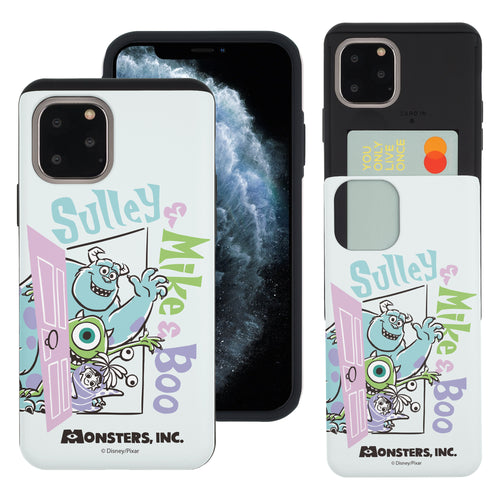 iPhone 11 Pro Max Case (6.5inch) Monsters University inc Slim Slider Card Slot Dual Layer Holder Bumper Cover - Cartoon Boo