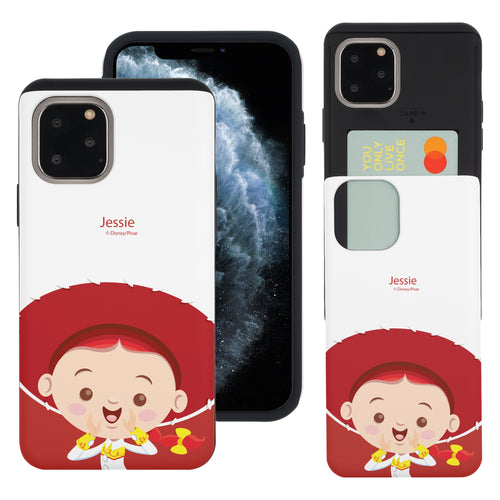 iPhone 11 Pro Max Case (6.5inch) Toy Story Slim Slider Card Slot Dual Layer Holder Bumper Cover - Baby Jessie