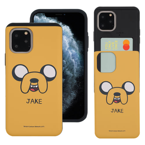 iPhone 11 Pro Max Case (6.5inch) Adventure Time Slim Slider Card Slot Dual Layer Holder Bumper Cover - Jake