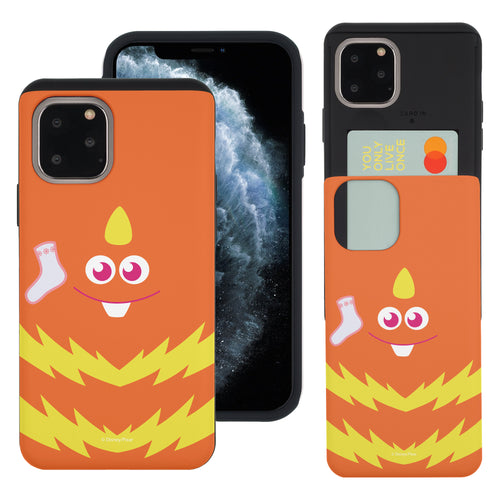 iPhone 11 Case (6.1inch) Monsters University inc Slim Slider Card Slot Dual Layer Holder Bumper Cover - Face George Socks