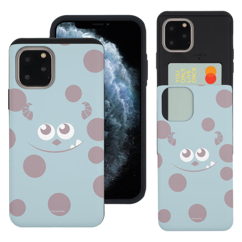 iPhone 11 Pro Max Case (6.5inch) Monsters University inc Slim Slider Card Slot Dual Layer Holder Bumper Cover - Face Sulley