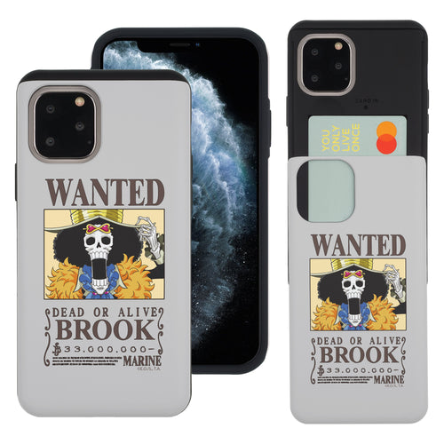 iPhone 11 Case (6.1inch) ONE PIECE Slim Slider Card Slot Dual Layer Holder Bumper Cover - Look Brook