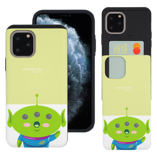 iPhone 11 Pro Max Case (6.5inch) Toy Story Slim Slider Card Slot Dual Layer Holder Bumper Cover - Baby Alien