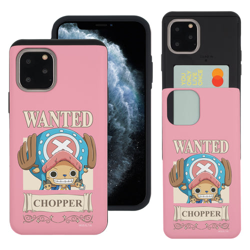 iPhone 11 Pro Case (5.8inch) ONE PIECE Slim Slider Card Slot Dual Layer Holder Bumper Cover - Mini Chopper