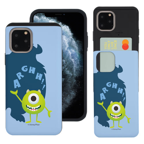 iPhone 11 Pro Max Case (6.5inch) Monsters University inc Slim Slider Card Slot Dual Layer Holder Bumper Cover - Simple Mike