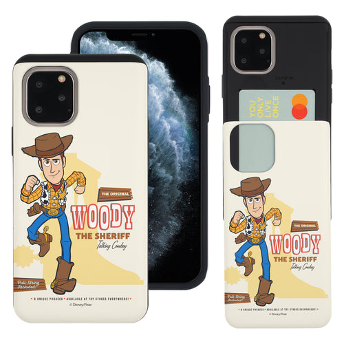 iPhone 11 Case (6.1inch) Toy Story Slim Slider Card Slot Dual Layer Holder Bumper Cover - Full Woody