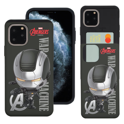 iPhone 11 Case (6.1inch) Marvel Avengers Slim Slider Card Slot Dual Layer Holder Bumper Cover - Mini War Machine