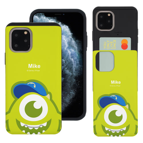 iPhone 11 Case (6.1inch) Monsters University inc Slim Slider Card Slot Dual Layer Holder Bumper Cover - Big Mike