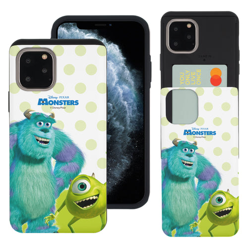 iPhone 11 Pro Max Case (6.5inch) Monsters University inc Slim Slider Card Slot Dual Layer Holder Bumper Cover - Movie Mike Sulley