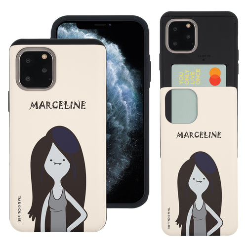 iPhone 11 Pro Max Case (6.5inch) Adventure Time Slim Slider Card Slot Dual Layer Holder Bumper Cover - Lovely Marceline