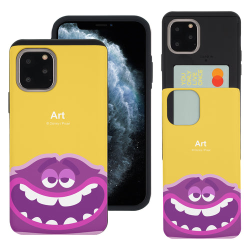 iPhone 11 Case (6.1inch) Monsters University inc Slim Slider Card Slot Dual Layer Holder Bumper Cover - Big Art